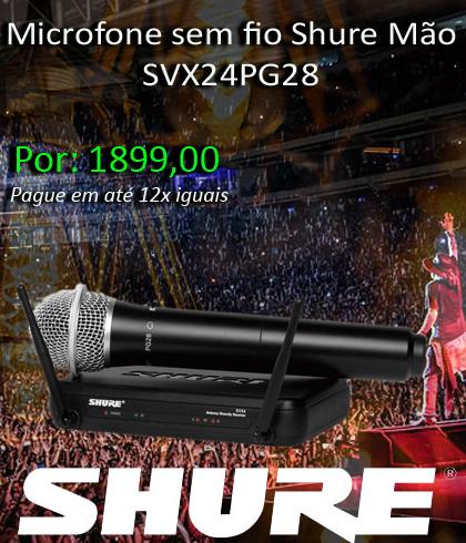 Banner Home Microfone sem fio Shure Mão