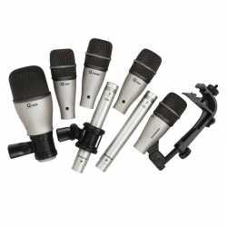 Imagem de Kit de Microfones Samson p/ Bateria (7 peças) - DK7