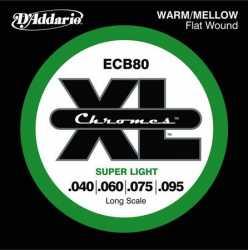 Imagem de Encordoamento D´addario Baixo 4 Cordas 040 Chromes - ECB80