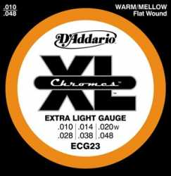 Imagem de Encordoamento D´addario Guitarra 010 Chromes - ECG23