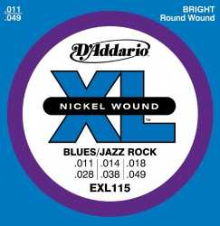 Imagem de Encordoamento D´addario Guitarra 011 Blue/jazz Rock - EXL115