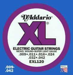 Imagem de Encordoamento D´addario Guitarra 009 Super Light - EXL120