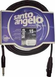 Imagem de Cabo Microfone Santo Angelo Ninja XLR/P10 4,57M - NINJAHGB15FT