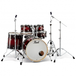 Imagem de Bateria Pearl Decade Maple 10/12/14/20/14 c/ Hardware 830 Gloss Deep Red Burst - DMP905P-C261