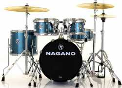 Imagem de Bateria Nagano Garage Gig 10/12/14/18/CX13 C/ Ferragens Ocean Sparkle - GARGIGOC