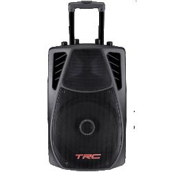 """Imagem de Caixa TRC Ativa 10"""" 360W C/ Bateria 12V/ BT/ 1 Mic C/ Fio/ 1 Mic S/ Fio - TRC359"""