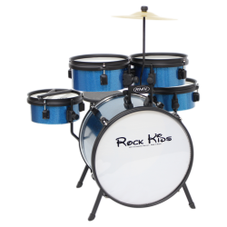 Imagem de Bateria RMV Rock Kids Infantil Azul Sparkle - PBKD14016