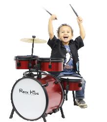 Imagem de Bateria RMV Rock Kids Infantil Vermelha Sparkle - PBKD14020