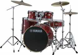 Imagem de Bateria Yamaha Stage Custom Birch 10/12/14/16/22 Cranberry Red c/ Ferragem
